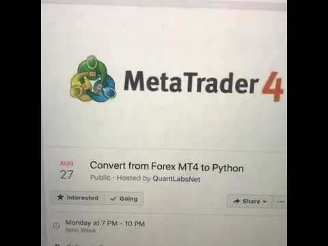 How To Convert Forex Mt4 To Python Programming Youtube