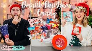 IT'S CHRISTMAS!! British People trying Danish Christmas Candy! - This With Them
