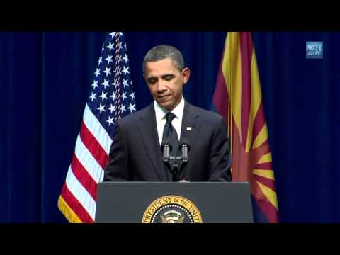 Obama At AZ Shooting Memorial-Full Speech-HQ Video