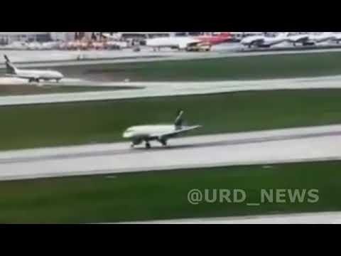 Полное видео посадки SSJ 100 в Шереметьево