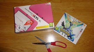 Unboxing & FirstLook: Nintendo 3DS XL i Pokemon X