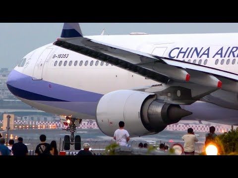 What A THRILLING VIEW ! Aircraft JETBLAST Take Offs & Landings | Taipei Songshan Airport Spotting