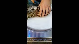 Ролл-Мороженое из Свежего Ананаса