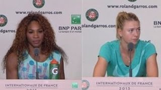 Serena Williams, Marial Sharapova Interview after French Open Final 2013