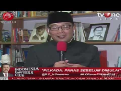 ILC Tv One, Dahsyatnya Komentar Ridwan Kamil Di ILC Panas Pilkada 2018