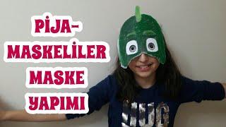 Pijamaskeliler Türkçe Kertenkele Çocuk Maskesi Yapıyoruz.