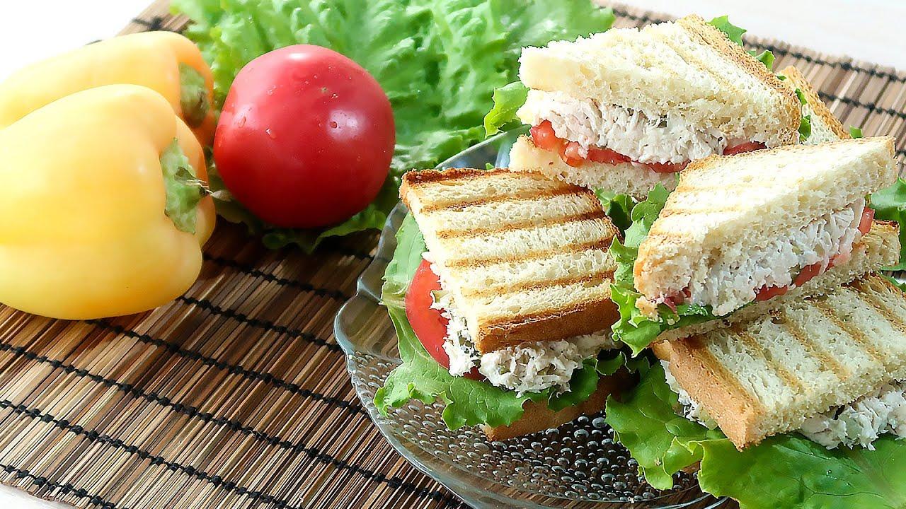 Сэндвичи с курицей на завтрак  Быстро и вкусно