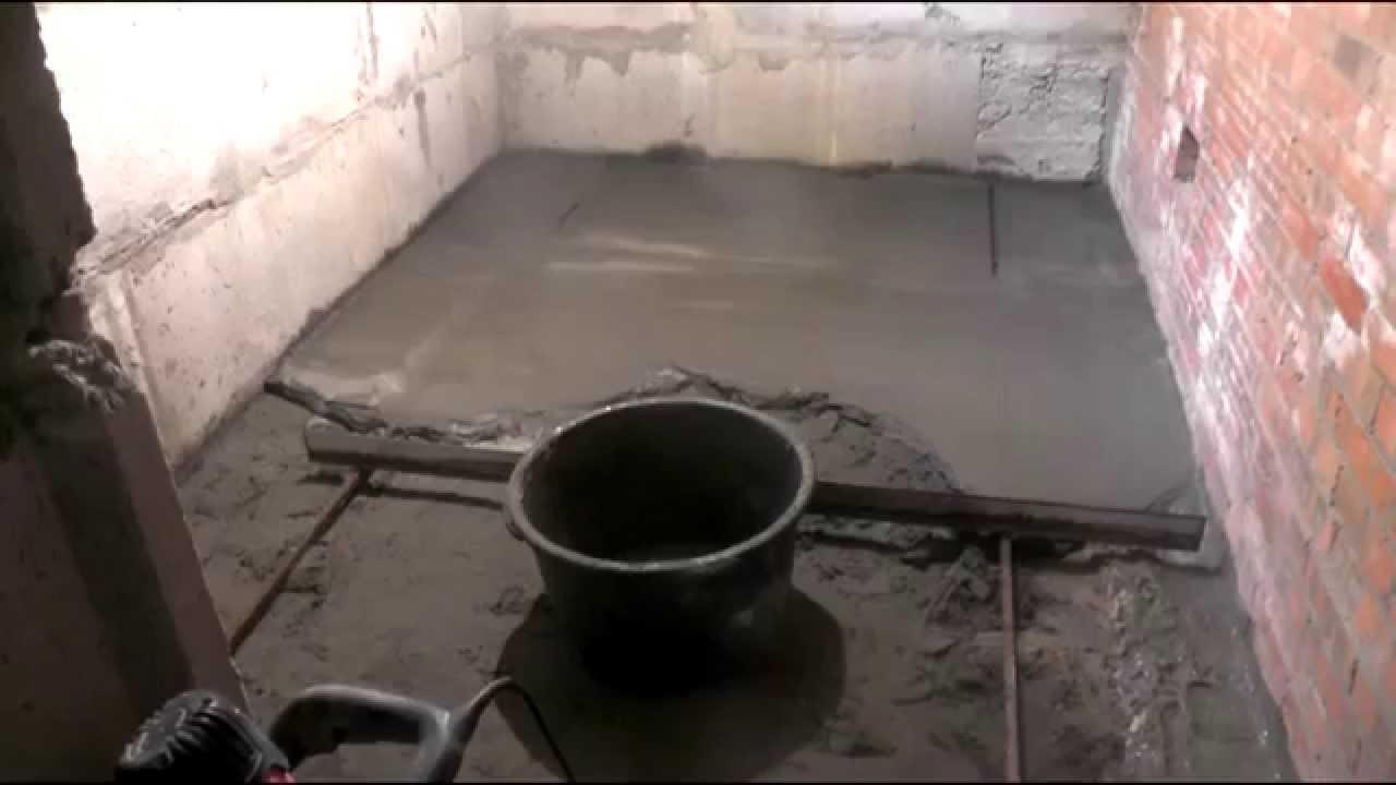 Котельная в частном доме ,часть1 , устройство цементно песчаной стяжки