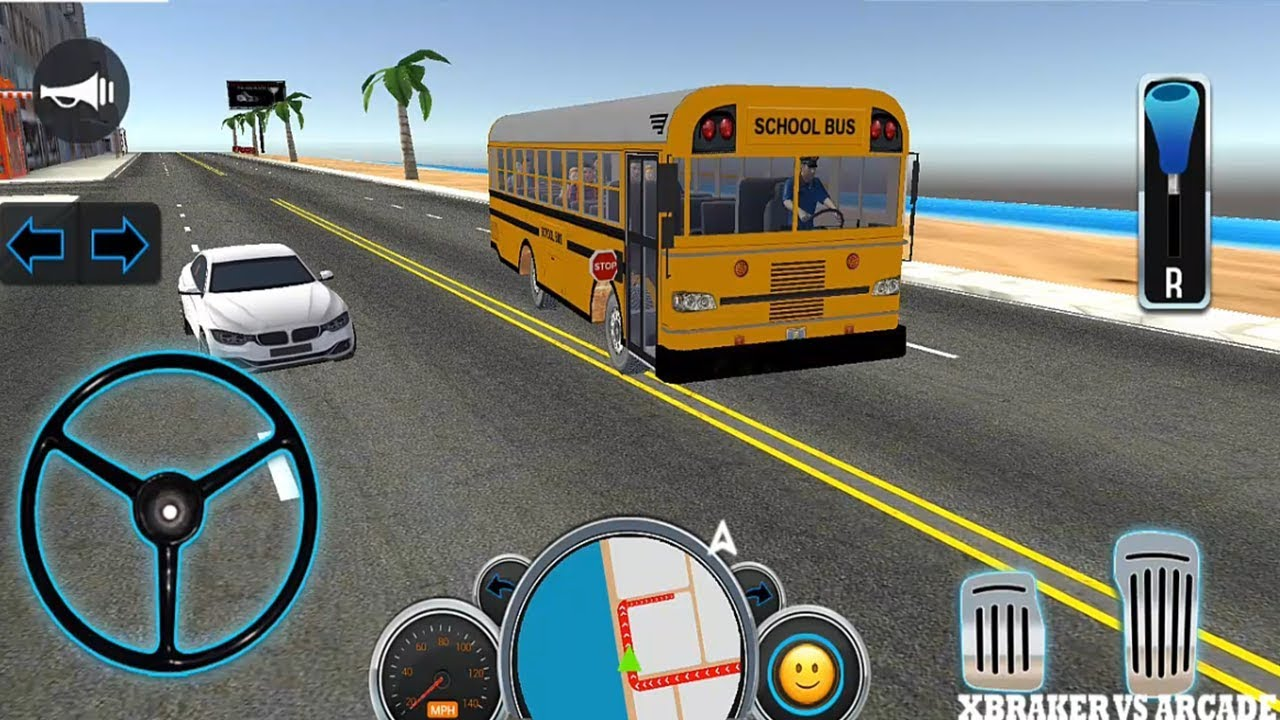School Bus Driver Simulator | Bus Transporter Game New School Bus Unlocked - Android Game Play HD