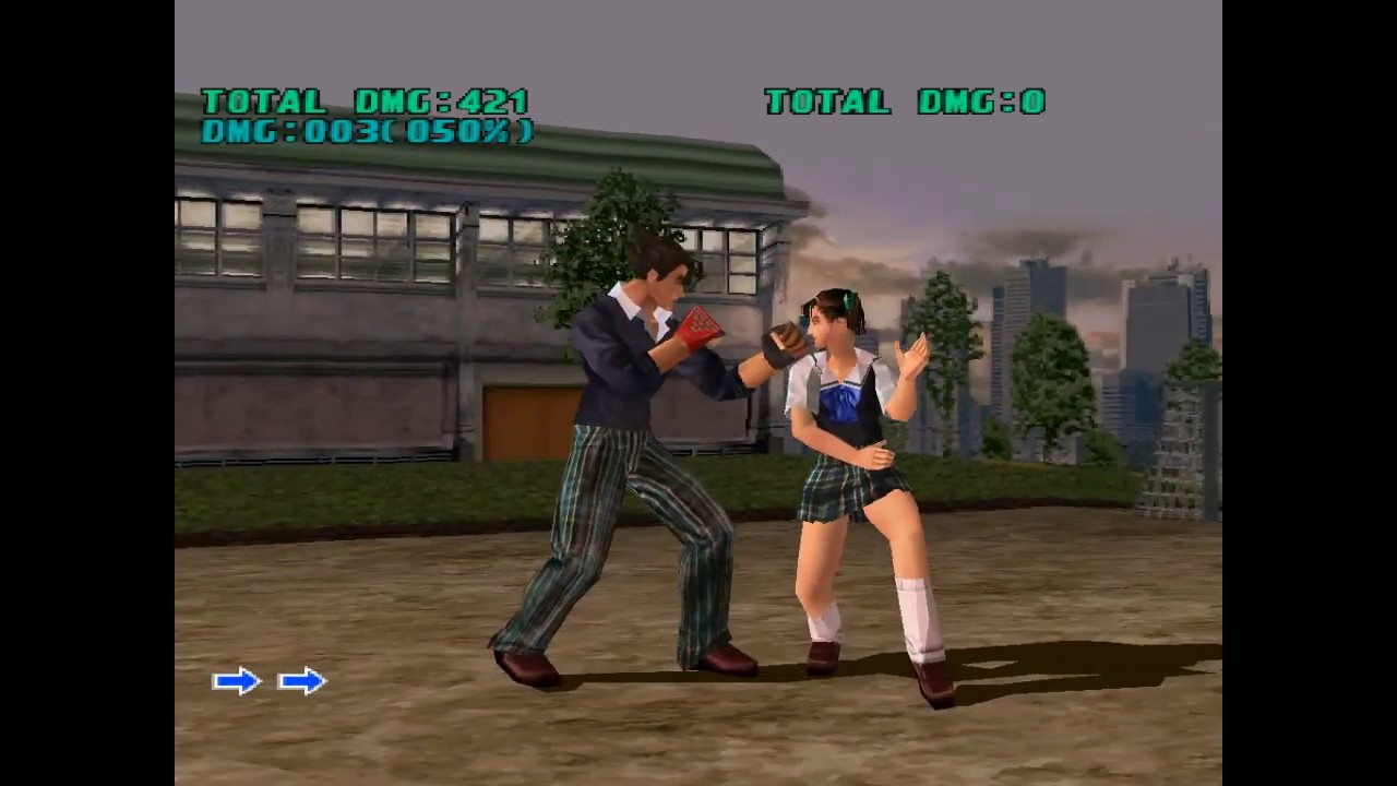 Tekken 3 Secret Stage Mishima Polytechnical High School Youtube
