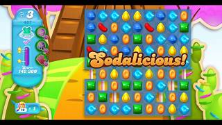 Candy Crush Soda Saga Level 487 with Commentary and 3 Stars - Frosting and Bears