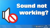 Windows 7 Sound drivers fix (NO Downloading Needed!) - YouTube