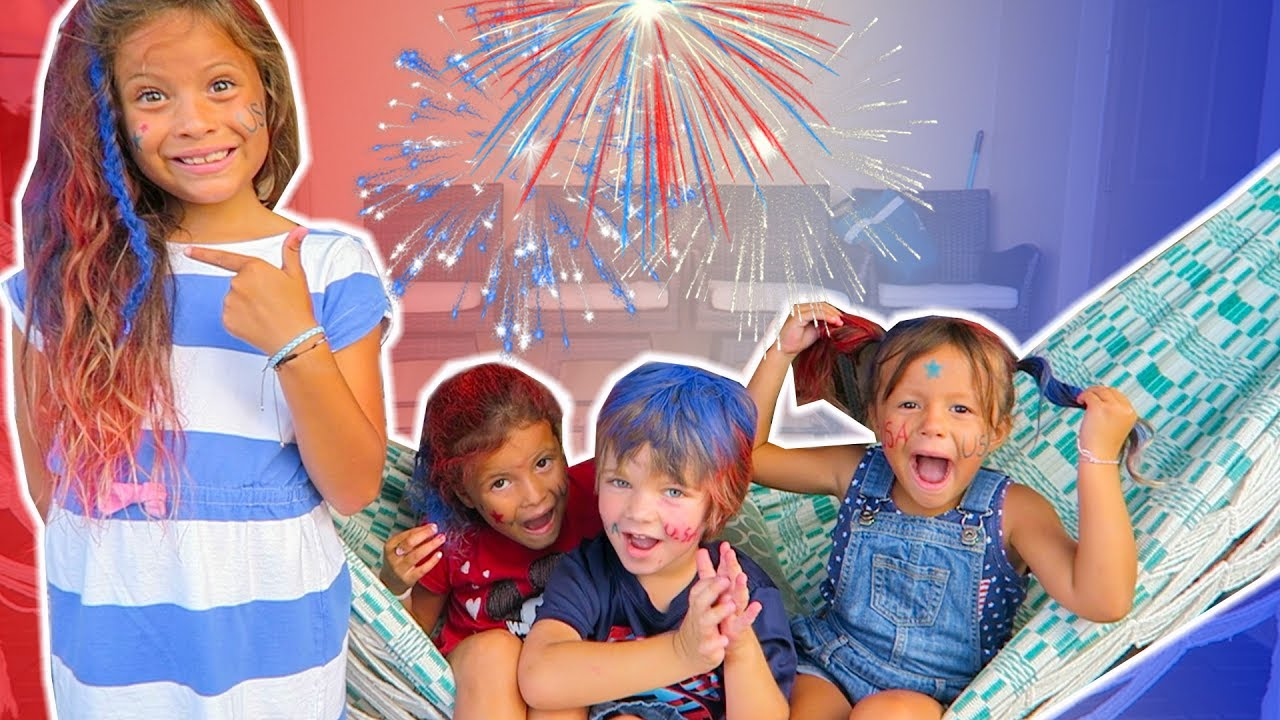 4th of july pool prank kids dye hair epic drone firework for Epic pool show