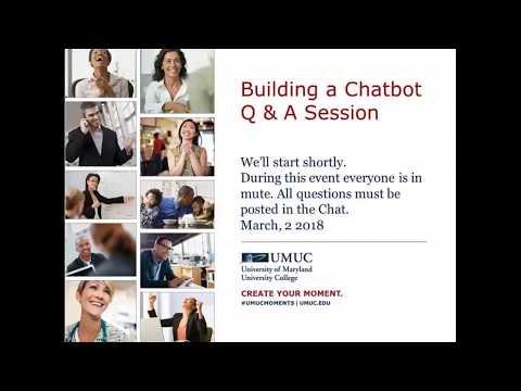 DATA 650  Chatbots   Q&A  Spring 2018