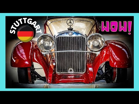 STUTTGART: The MERCEDES-BENZ MUSEUM, luxury cars from the 1920s and