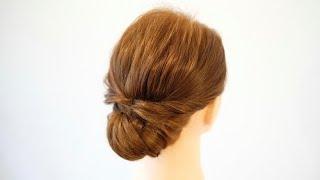 [ヘアアレンジ]簡単カワイイくるりんぱのまとめ髪