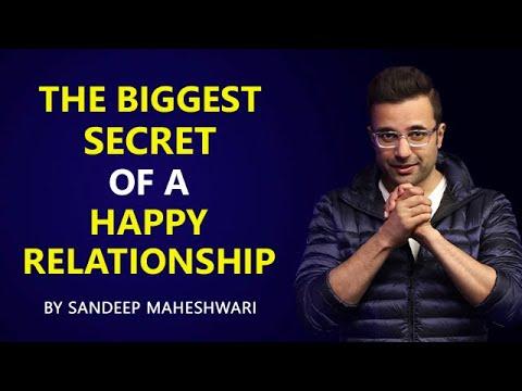 The Biggest Secret of a Happy Relationship - By Sandeep Maheshwari | Hindi thumbnail