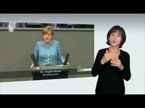 Gebärdensprachvideo: Regierungserklärung zum G20-Gipfel