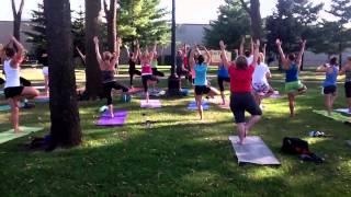 Yoga In The Park, At Farmers Market La Crosse Wisconsin Cam