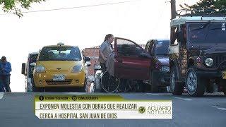 Exponen molestia con obras que realizan cerca a hospital San Juan de Dios