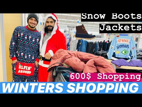 Winter's Shopping In Canada || Best Price Walmart || Snow Boots And Jackets Collection ||