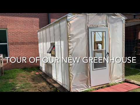 Tour of our Mannsdale Upper Elementary School Garden Greenhouse