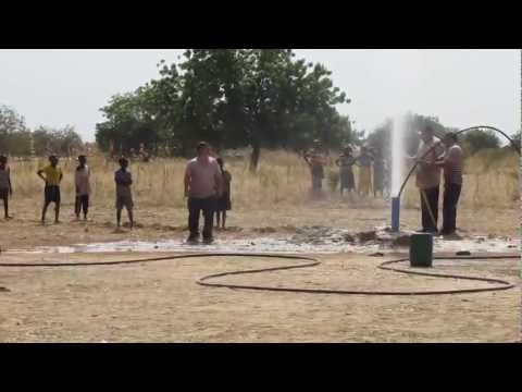 Successful Drilling of Water of Life Ministry in Burkina Faso (raw footage)