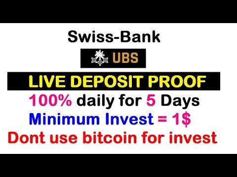 Live Deposit Proof    500% after 5 days    swiss bank    Minimum Invest = 1$