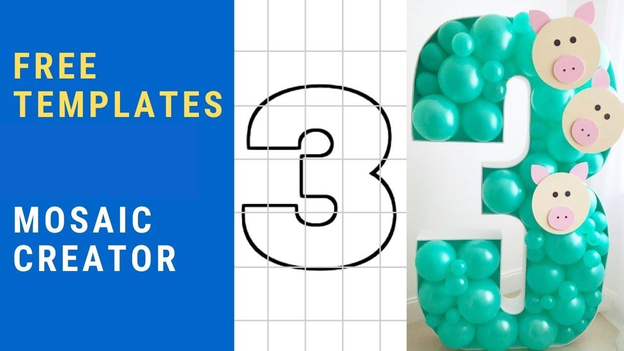 Balloon Mosaic Creator with FREE Templates   DIY   Tutorial