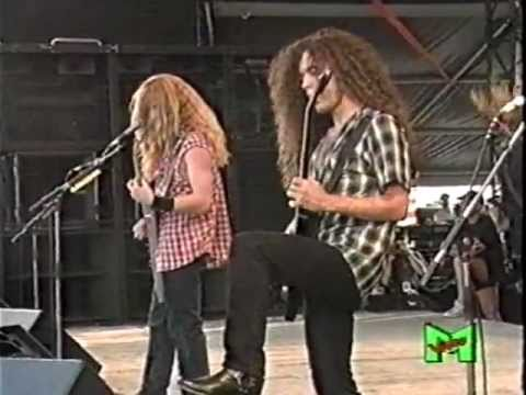 Megadeth  Peace Sells Medley  In Italy 1992