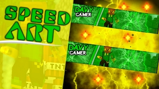 Speed Art banner para :DavyGamer ( Feita no Android )