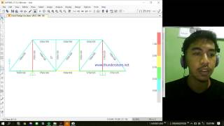 Tutorial SAP2000 Truss 2D analisys and design for beginner