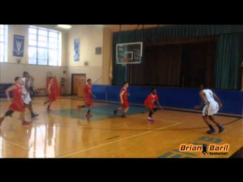 Brian Baril  basketball highlights vs Spellman