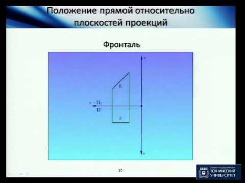 Как построить проекцию прямой