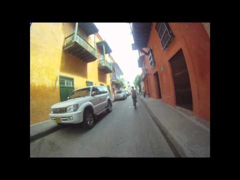 Bike Ride Through the Walled City - Cartagena, Colombia