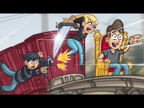 King of the Train! - GTA 5 Funny Moments
