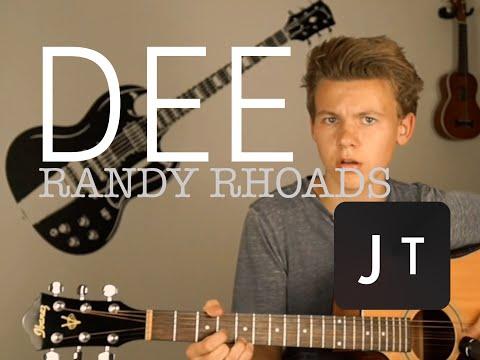 DEE-RANDY RHOADS | GUITAR COVER BY JULIUS TRIPPNER
