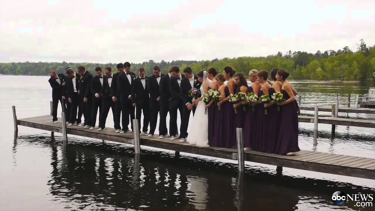 Dock Collapses On Wedding Party 6 06 2014 Youtube