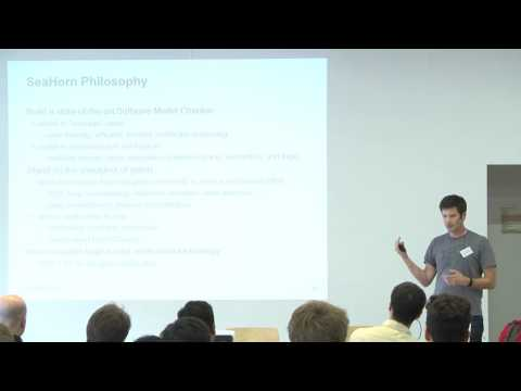 Algorithmic Logic-Based Verification with SeaHorn - Arie Gurfinkel