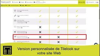 Version personnalisée de Tilelook sur votre site Web