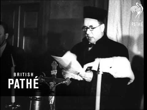 Court Scene Tiso And Beran Sentenced (1947)