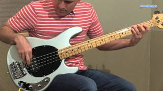 Music Man StingRay 4 Classic Electric Bass Guitar Demo - Sweetwater Sound