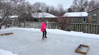 Paige - Ice Rink - Hockey Skates - 02/08/2014