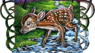 """""""Bambi"""" fan art Speed Painting"""