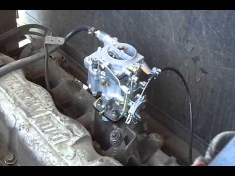 Adaptaci 243 N De Carburador A Ford De 6 Cilindros En Linea