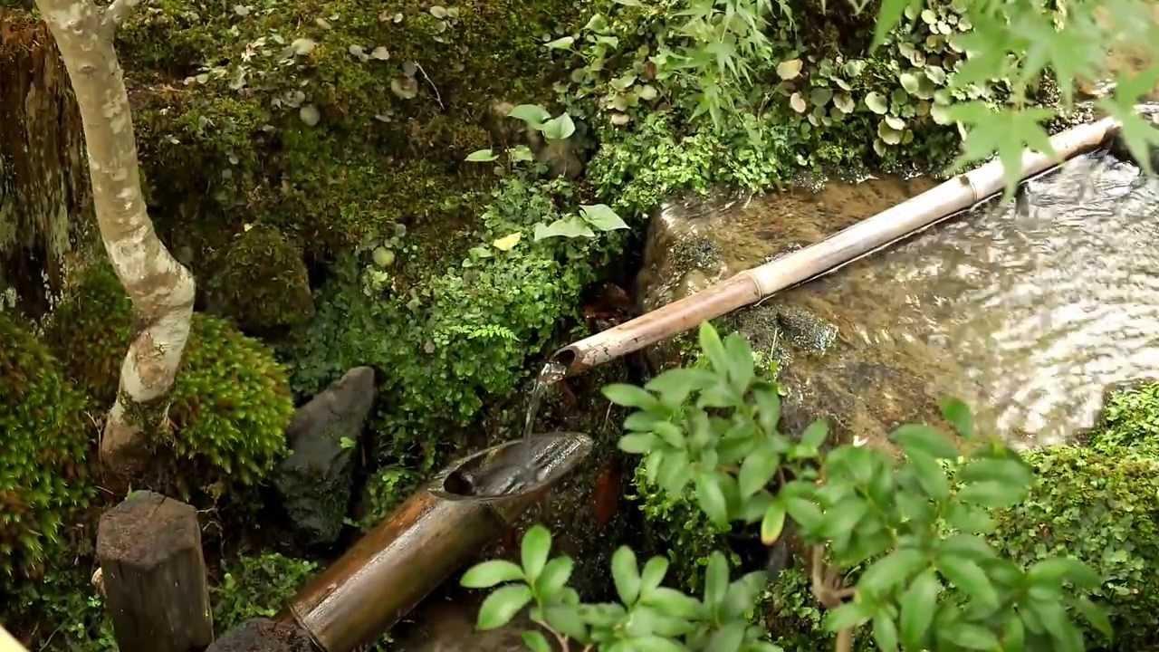 Bamboo Water Clock At Ryoanji Kyoto Japan Youtube