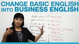 Gambar cover How to change Basic English into Business English