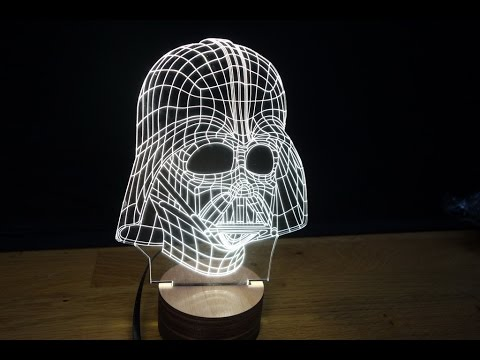 3d Wood Mood Lamp Bulbing Light Star Wars Darth Vader Youtube