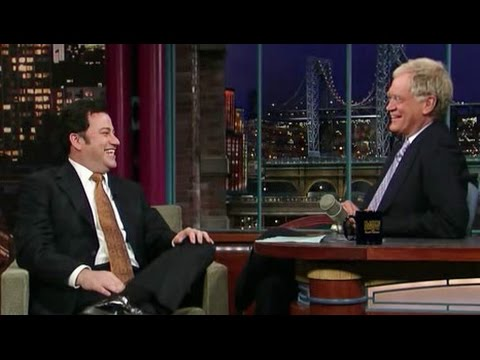 Jimmy Kimmel on Letterman (2008)