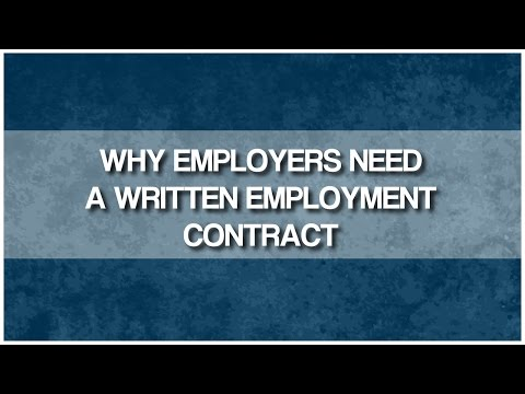 Why Employers Need Written Employment Agreements in BC?